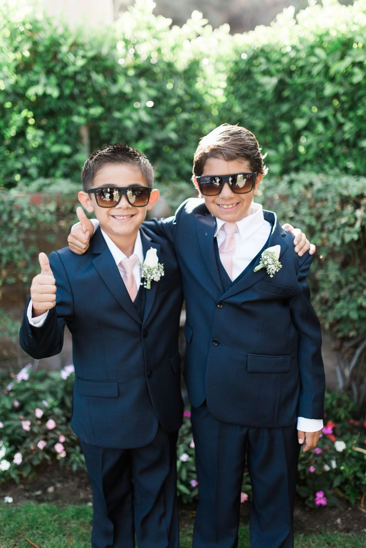 cutest junior groomsmen that you ever did see.