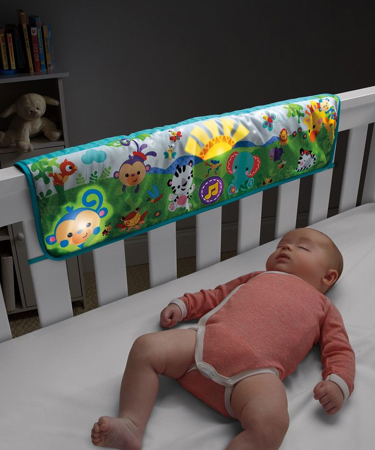Fisher Price Rainforest Friends Twinkling Lights Crib Rail Soother