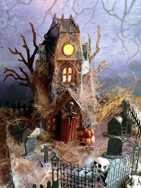 Sizzix Bigz L Die - Village Manor - Tim Holtz Ghost House