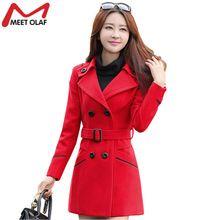 Women Woolen Coats 2017 New Female Winter Jackets Elegant Wool Blends Trench Coat Ladies Windbreaker Outwear Plus Size 3XL YL159 //FREE Shipping Worldwide //