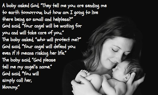 "•A Baby Asked God, ""They Tell Me You Are Sending Me To"