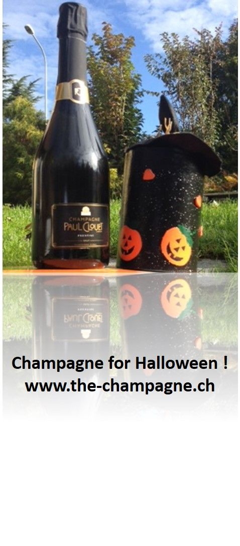 Paul Clouet Grand Cru Prestige in the elegant black bottle is our preferred choice for Halloween http://the-champagne.ch/index.php/shop/product/view/18/130