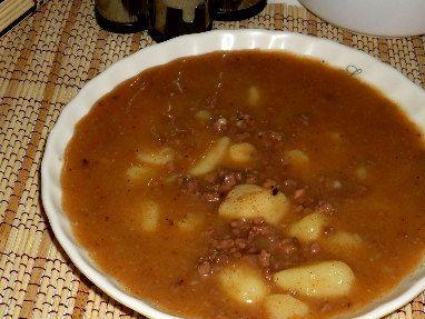 Bramborová polévka s masem