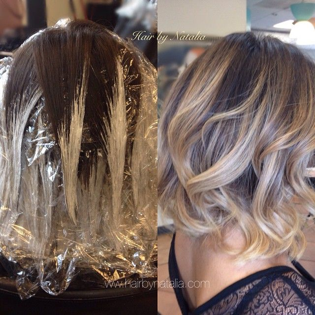 Balayage hair painting. Balayage in Denver.