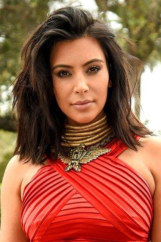 Bob Hairstyles & Haircuts - Celebrity Bob Hairstyles, Kim Kardashian (Glamour.com UK)