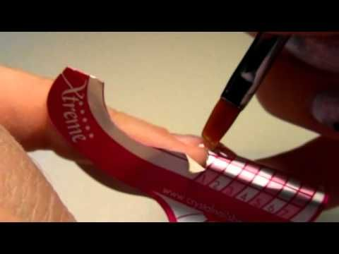 allungamento con cartina gel uv tutorial - YouTube