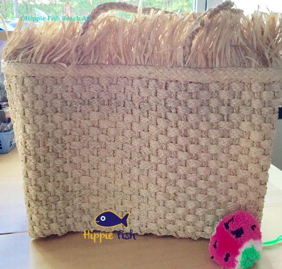 Raffia bag piñata bag French market bag straw bag boho