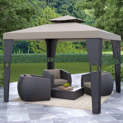 W X 10 Ft. D Gazebo Patio Outdoor Canopy Adjustable Party Shade Steel New
