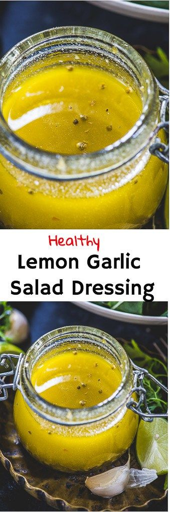 Spruce up your salad game this summer with this lip-smacking Lemon Garlic Salad Dressing. It has a refreshing shot of dijon mustard, olive oil, lemon zest, lemon juice. And it makes salads as wholesome as Apple Cider Vinegar. Here is how to make this lemon garlic dressing at home! #Healthy #Salad #Dressing #Lemon #Garlic via @WhiskAffair