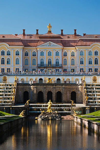 Russia, St. Petersburg, Peterhof, Grand Palace
