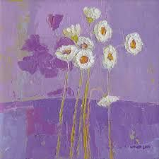 Flowers with purple shadows