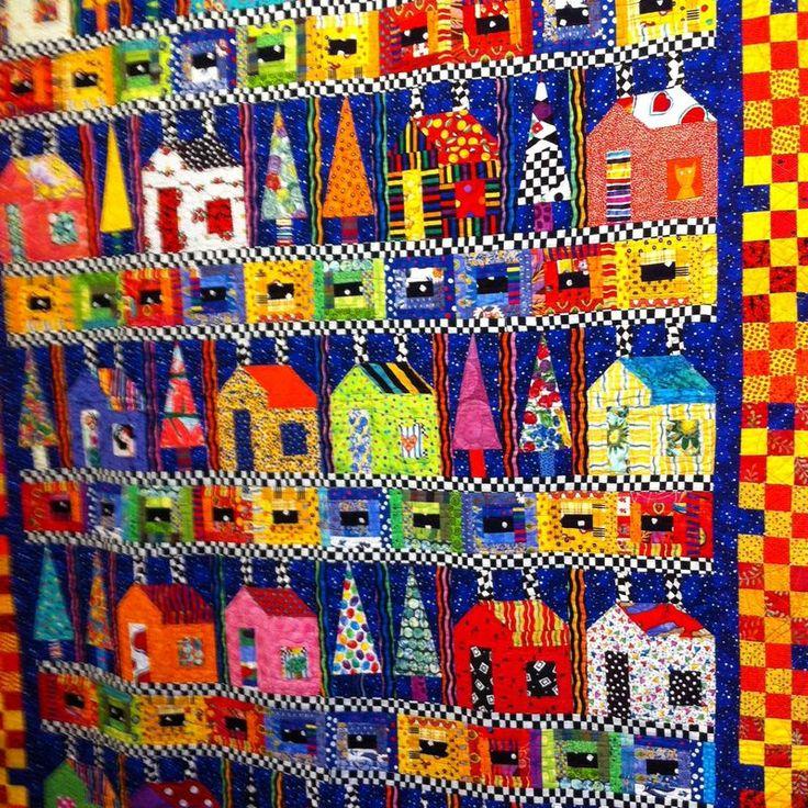 Freddy Moran....houses quilt....Photo 1-3