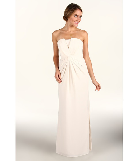 Laundry by Shelli Segal Strapless Gown Warm White - 6pm.com