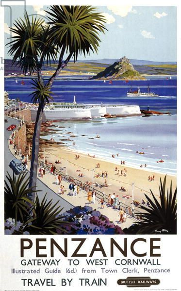 'Penzance, Gateway to West Cornwall', poster advertising British Railways (colour litho)