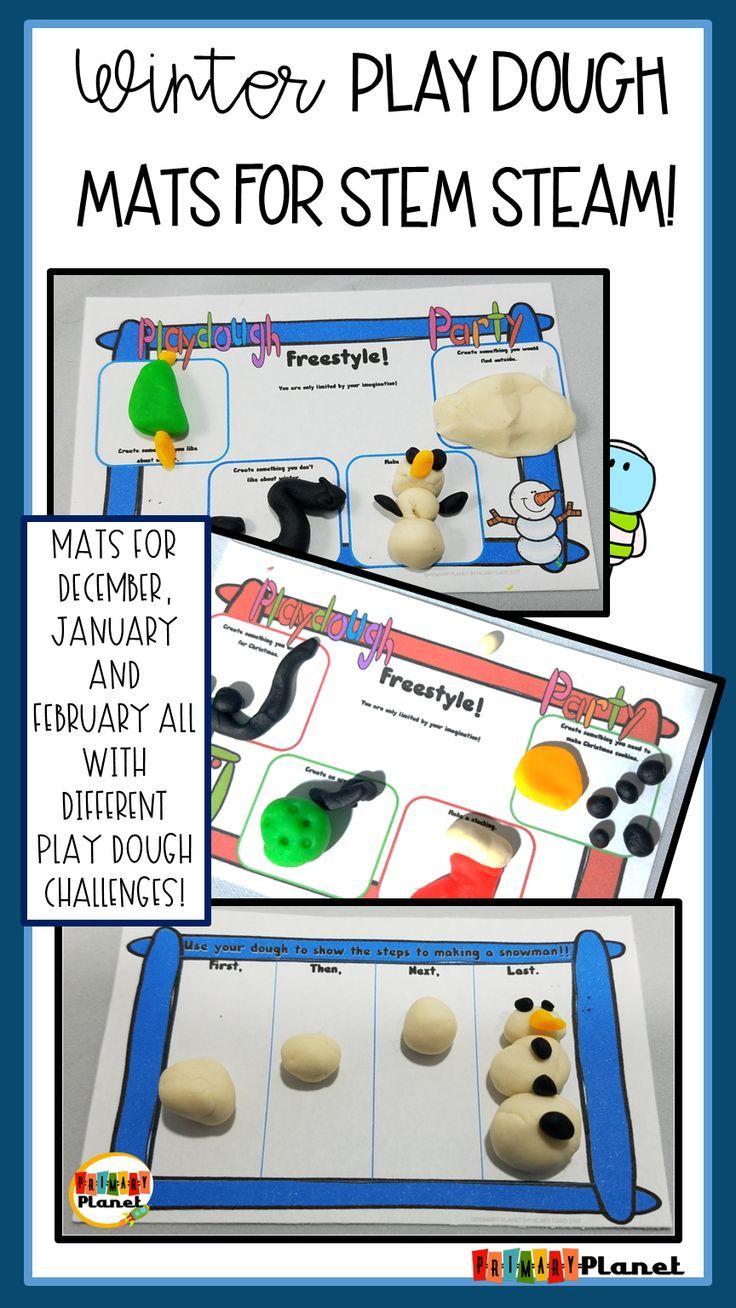 Play Dough Mats For Stem Steam Winter For Teachers Pinterest
