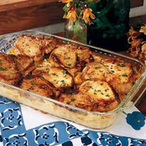 Pork Chops with Scalloped Potatoes