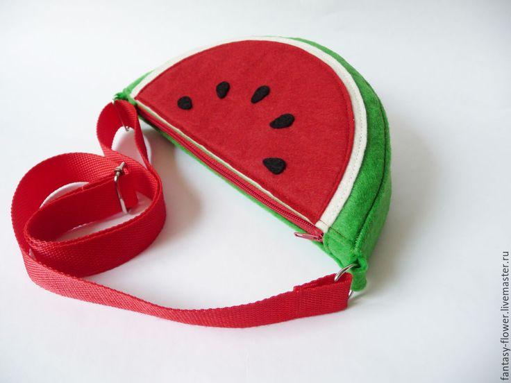 """Купить Сумочка """"Арбузная долька"""" для девочки - ярко-красный, сумочка, сумочка для девочки, сумка для девочки"""
