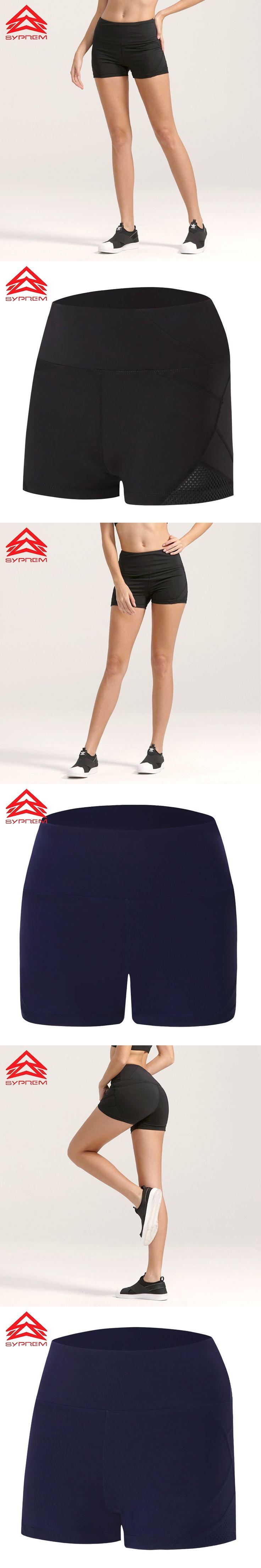 Syprem Dry-Fit Women Slim Mesh Design Sportswear Girls Dancing Shorts Running Shorts Sports Breathable Black,1FP0024