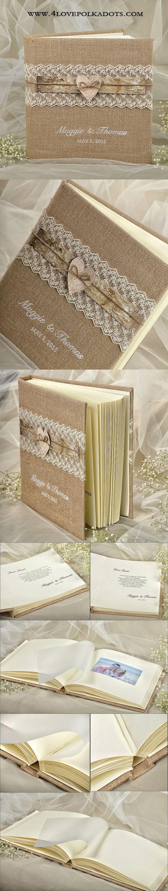 Rustic Wedding Photo Album #weddingideas #countrywedding