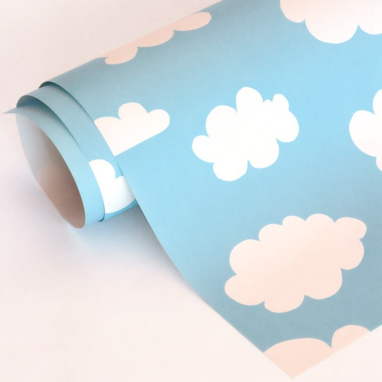 Cumulus, 100% Recycled wrap, 50 x 70 cm