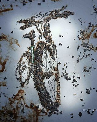 Mountain Bike mud art #mtb #art