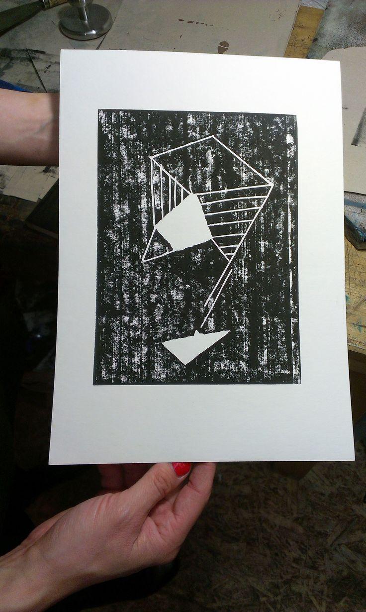 Woodcut print, 2016