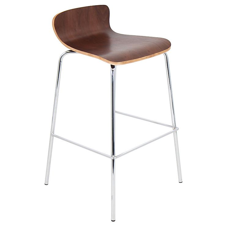 Lumisource Bentwood Stacker Bar Stool WalnutChrome by Office Depot u0026 OfficeMax  sc 1 st  Pinterest : office depot stools - islam-shia.org