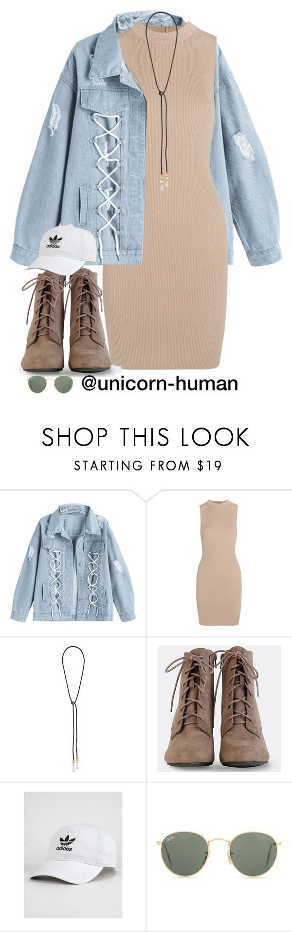 """Untitled #3055"" by unicorn-human on Polyvore featuring Tart, Lizzie Fortunato, adidas and Ray-Ban"