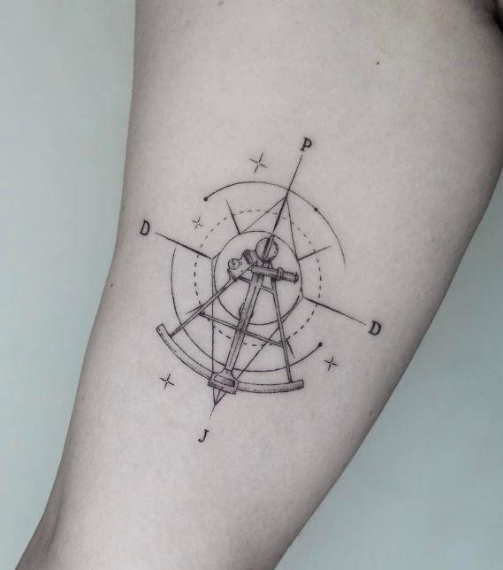 Sextant Tattoo