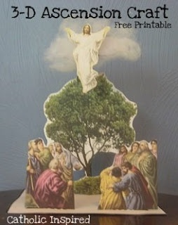 The Ascension of Jesus ~ 3-D Craft Project | Catholic Inspired ~ Arts, Crafts, and Activities!