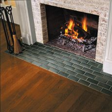 how to tile a hearth/tiles on  the fireplace