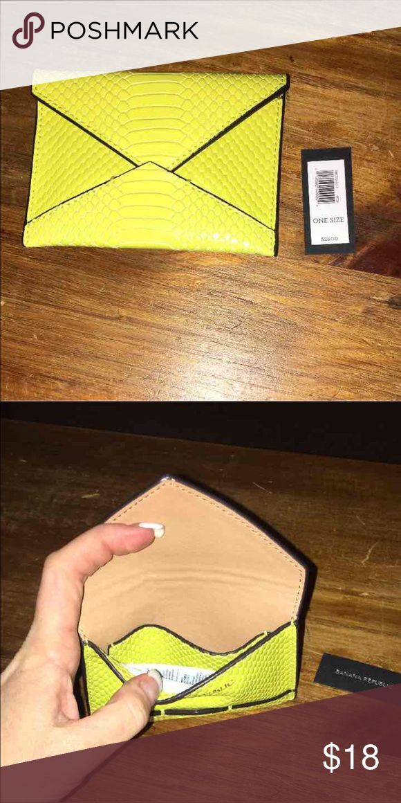 NWT Banana Republic Card Holder Use it for Business Cards or Credit or Bank Cards. As well as Cash; grab and go. Never used Banana Republic Accessories Key & Card Holders