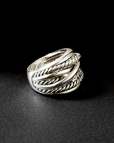 David Yurman 'Crossover' Silver Ring I have this in the silver and gold but would like the plain silver for everyday wear