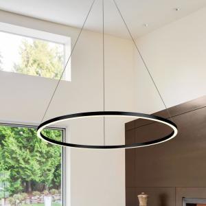 VONN Lighting Tania Round 39 in. 54-Watt Black Integrated LED Chandelier