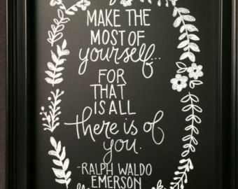 Ralph Waldo Emerson Quote / Typewriter Quote / by WhiteCellarDoor