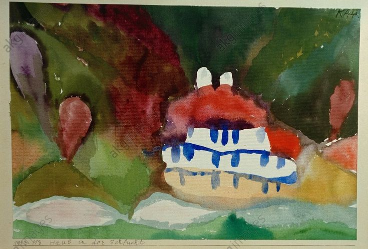 Haus in der Schlucht Paul Klee 1913