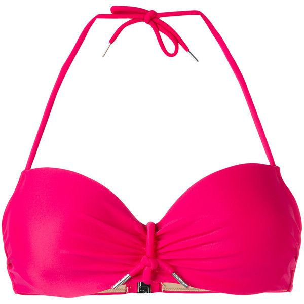 Marlies Dekkers Musubi plunge bikini top ($76) ❤ liked on Polyvore featuring swimwear, bikinis, bikini tops, pink, pink swim top, plunge bikini, marlies dekkers, tankini tops and swimsuit tops
