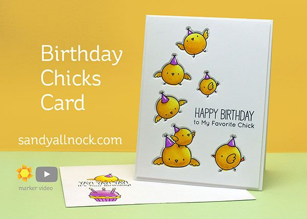 Birthday Chicks Card – Sandy Allnock