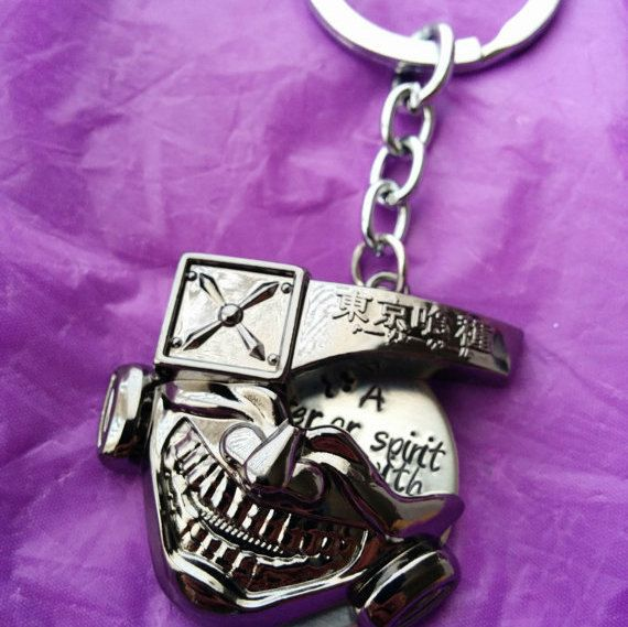 Tokyo Ghoul Fan Art Cosplay Keychain or Necklace by DesignsByTeraW