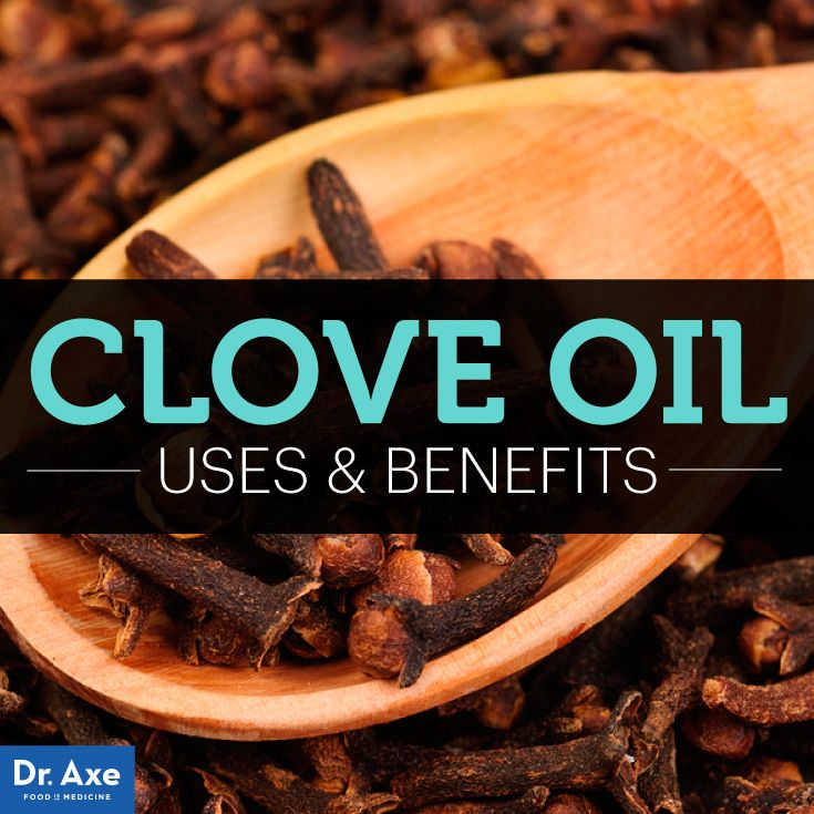 Clove Oil Uses and Benefits for Healing - DrAxe.com Did you know clove oil does the following? Eliminates acne, Kills parasites, Improves blood circulation, Reduces gum disease, Boosts energy, Natural anti-inflammatory, and Kills mold and fungus!