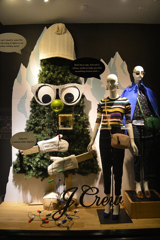 """J.CREW, Sloane Square, London, UK, """"Don't be a sop. Just ask a J.Crew Stylist to help you find something festive..."""", photo by Trend VM, pinned by Ton van der Veer"""