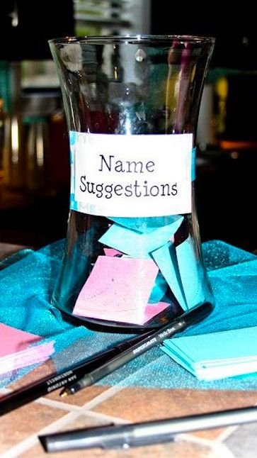 Celebrate in style with these 18 perfect baby shower ideas.  Get your guests to suggest a baby name!