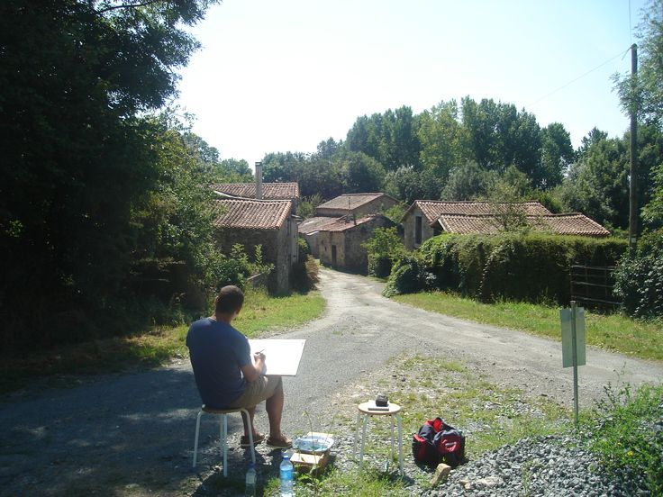 'En plein air' La Limousinière, near L'Absie, France