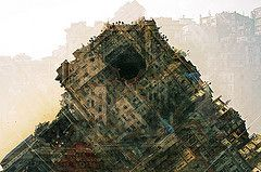 postmodernism (m_travels) Tags: life old city windows abstract art strange architecture buildings turkey exposure apartment rooftops pyramid geometry decay patterns culture istanbul double structure human repetition definition housing multiple weathered concept shape taksim beyoglu postmodernism multiexposure condition