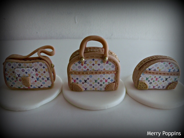 LV Bags Cupcake Toppers