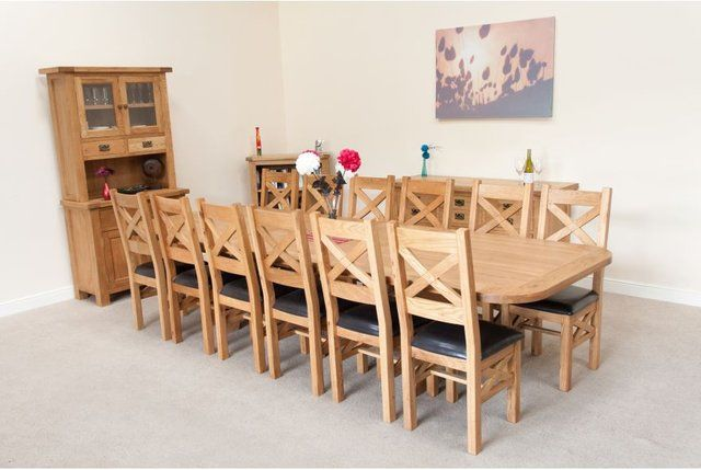12 Seater Oak Dining Table Buy Neptune Suffolk 8