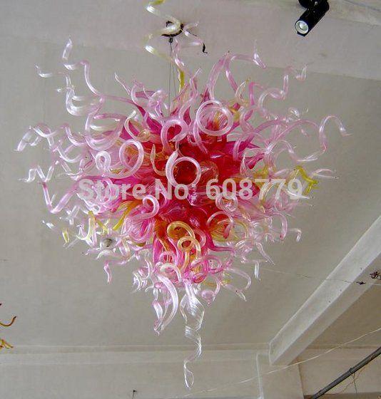 Бесплатная доставка мини спальня розовый выдувное стекло кованые хрустальная люстра купить на AliExpress