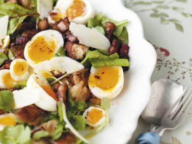 Lentesalade met eieren