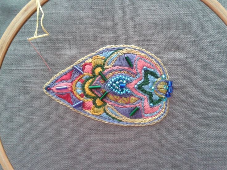 embroidery, inspiration from india