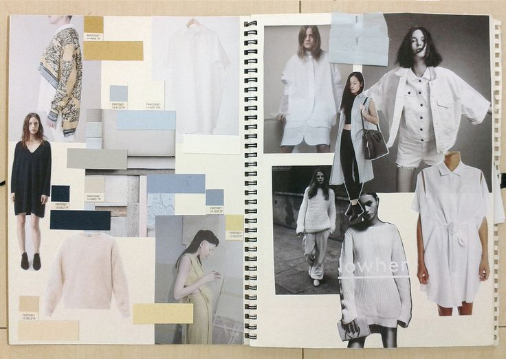 Fashion Sketchbooks - moodboard for work in progress, design development…